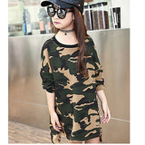 green red camouflage kids long t shirts dress girls dresses clothes teenage girl long sleeve dress children clothing 2018 spring