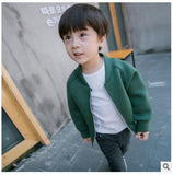 heat! retail 2018 new autumn baby boys and girls 100% cotton coat jacket zipper shirt brand children's clothing Free shipping