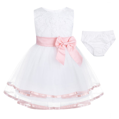 Infant Baby Kids Girls Wedding Flower Girls Dress Princess Party Pageant Formal Dress Prom Baby Children Birthday Dress