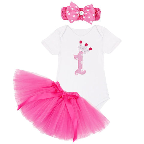 Newborn 1 Year Birthday Dress for 1st First Baby Kid Girl Birthday Clothing Infant Princess Baby Girl Party Tutu Dress
