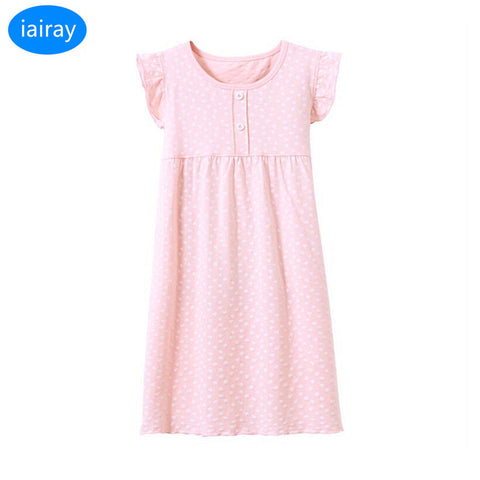 pink cotton nightgowns for girls nightdress girl sleep dress long sleepshirts kids night gown summer clothes for teens