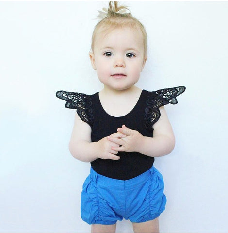 infant T-shirts 2018 summer butterfly sleeve baby girls Tees candy colors cute fashion kids toddler tops casual girls clothes