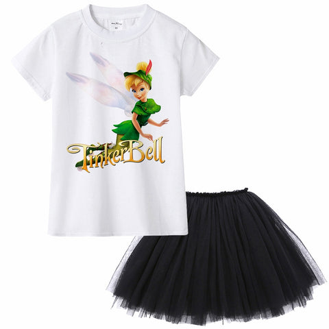 kids girl dress Tinkerbell Periwinkle cartoon design casual summmer clothes party princess costume toddler baby girl tutu dress