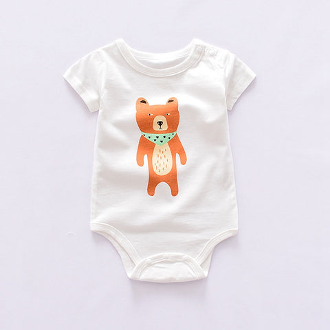 new Baby Bodysuits Short Sleeve boy's sets animal Overall cotton infant Baby girls Jumpsuit Newborn Clothes mix design