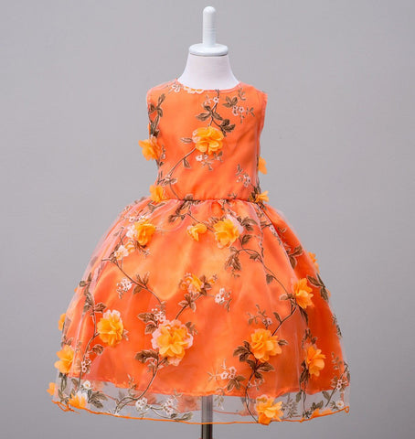 new Sleeveless flowers Girls dresses, summer baby princess party tutu dress, kids clothes,  R1AA610DS30, [Eleven Story Store]