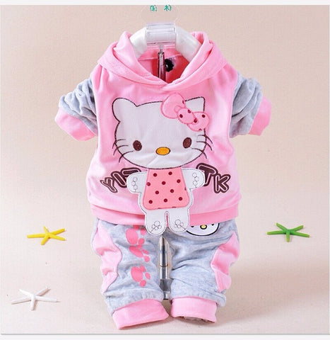 2d867b243 new baby girls clothing set newborn girls cartoon hellokitty print ...