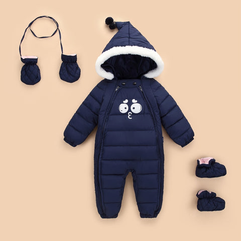 new born Kids Down Cotton Jumpsuit Newborn Winter Thick Boys Overalls Baby girl onesie clothes Snowsuit Infant Jacket Footies