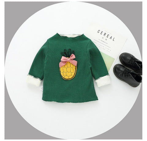 winter toddler pullovers sweater children's shirt plus velvet thick spring and autumn primer shirt sweater 0-2 years old