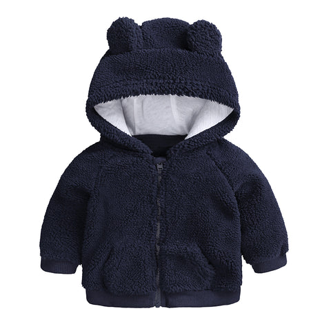 newbron baby clothes Autumn Winter warm Hooded jacket&Co for 3-18M toddler baby boy girls cartoon be Outerwe blue green