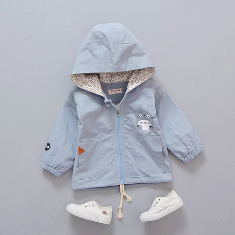 pink/ light blue green boy's outwe wind jacket spring autumn fashion baby boys girls children long Hoodie Jacket outer Coat
