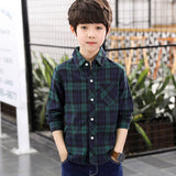 red green plaid children blouse scho for big boys long sleeve cotton shirts tops clothing new 2018 autumn kids shirts blouses