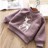 size z42 Autumn Baby Sweatershirt For Girls Tops Deer Santa Fashion Kids Hoodies For Girls Children Clothes Child Baby Clothes