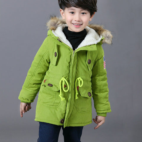 snow we Girls &Boys winter co Children's Parkas Winter Jackets Infant Clothing Faux Fur Hooded baby kids Clothes boy snows