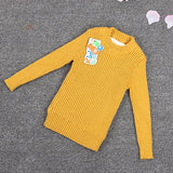 toddler ribbed sweater fur inside 2018 boy newborn baby knitted clothes tops jumper winter blacks and white we for kids girls