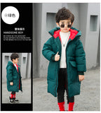 warm winter long jackets boy winter coats 2018 green black fashion outwear