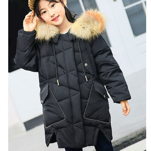 4ce6c8036f59 white duck down teenage girls clothes winter long hooded little girls down coats  girl winter outwe pink red purple black blue