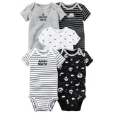 wholesale 5pcs/lot baby bebes kids girl clothes set , full cotton Jumpsuits sleeveless clothings Rompers 2018 new model