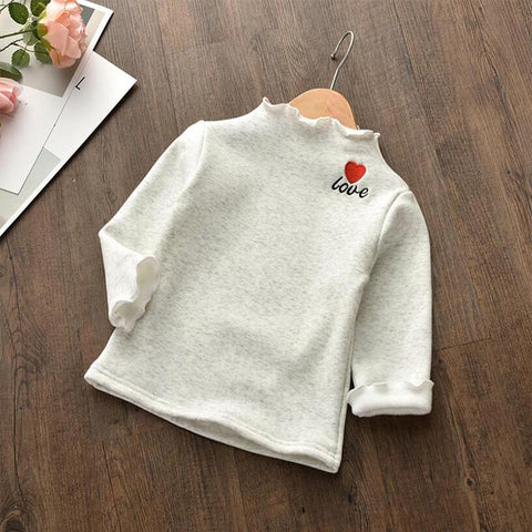 winter child girls sweatshirts kids warm sweater autumn loose bebe fashion solid hoodies full sleeve cotton co for children
