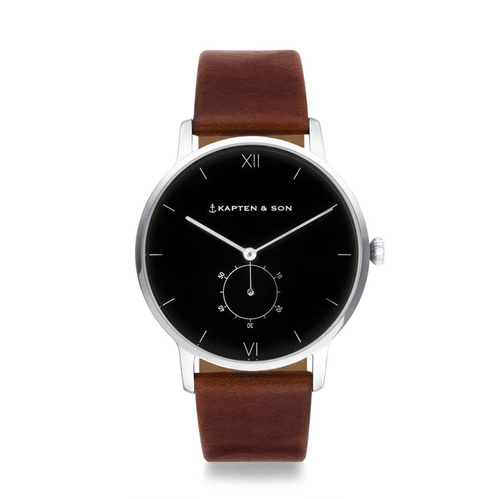 "Heritage Silver ""Black Brown Leather"""