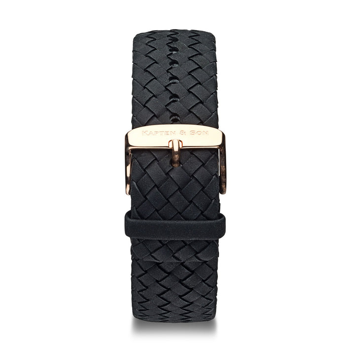 "Leather Strap ""Black Woven Leather"" Chrono RG"