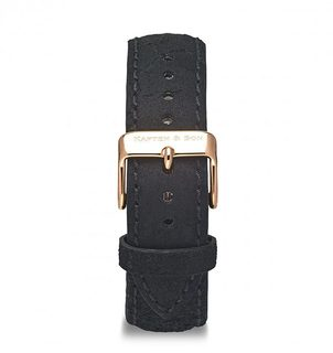 Leather Strap Black Vintage Leather