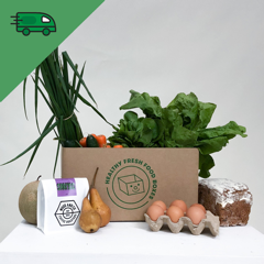 Friday Veggie Box with eggs - Delivered