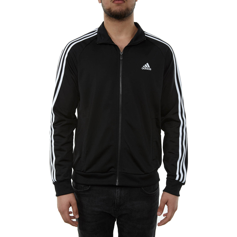 Adidas Essentials 3-stripe Tricot Track Jacket Mens Style : Br1024-Blk