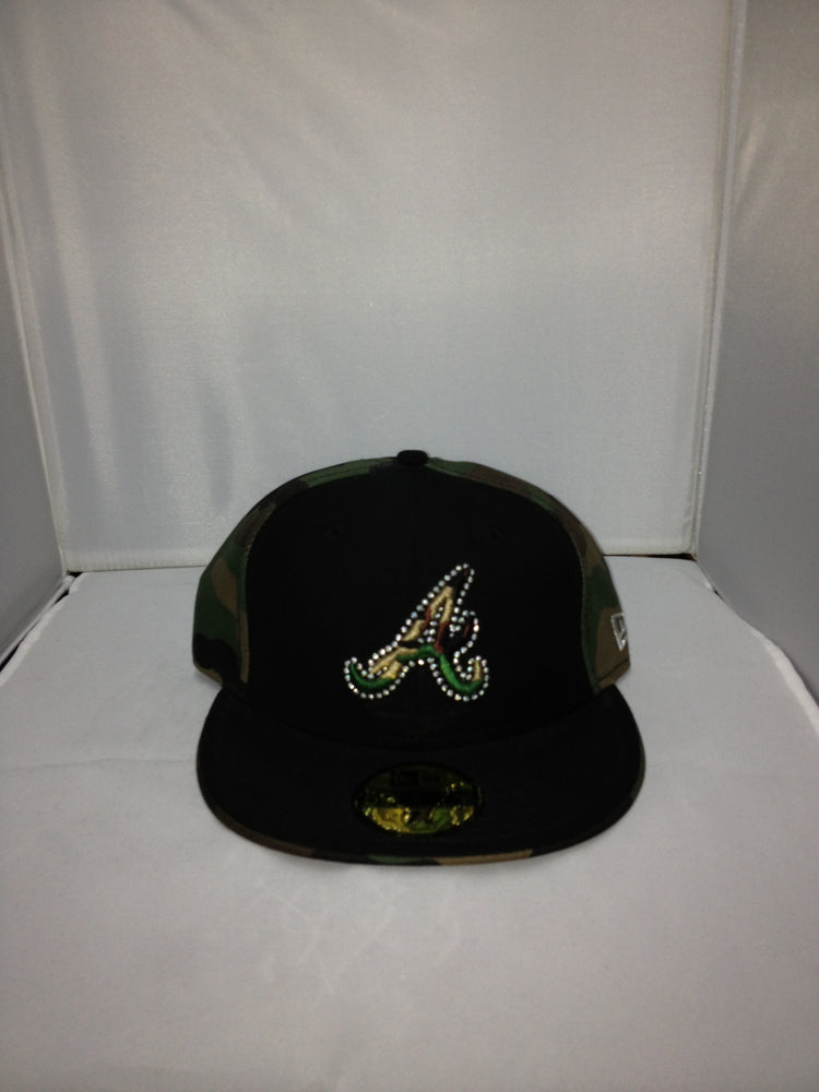 Atlanta Braves New Era Fitted BLACK/GREEN 13