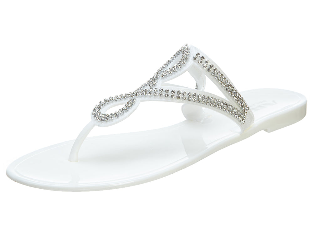 AIR BALANCE Bejeweled Looped Jelly Sandals WOMENS  STYLE# ABS407-WB611