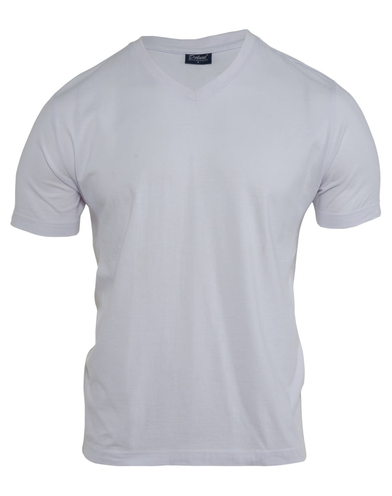 Deluxe 100% Cotton Tee Mens Style # DLX-160