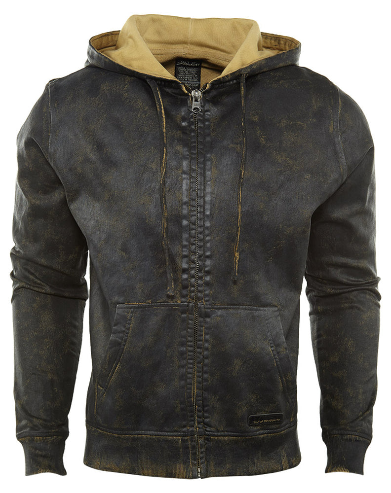 Cult Of Individuality  Hoodie-full Zip Denim+sweatshirt Mens Style : 659-15b-k10a