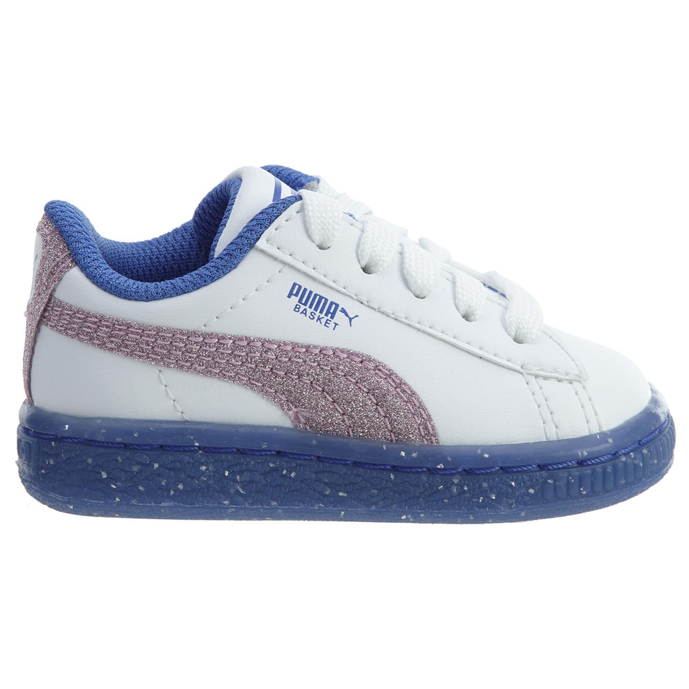 Puma Basket Iced Glitter 2 Infant Girls Shoe Toddlers Style : 363898