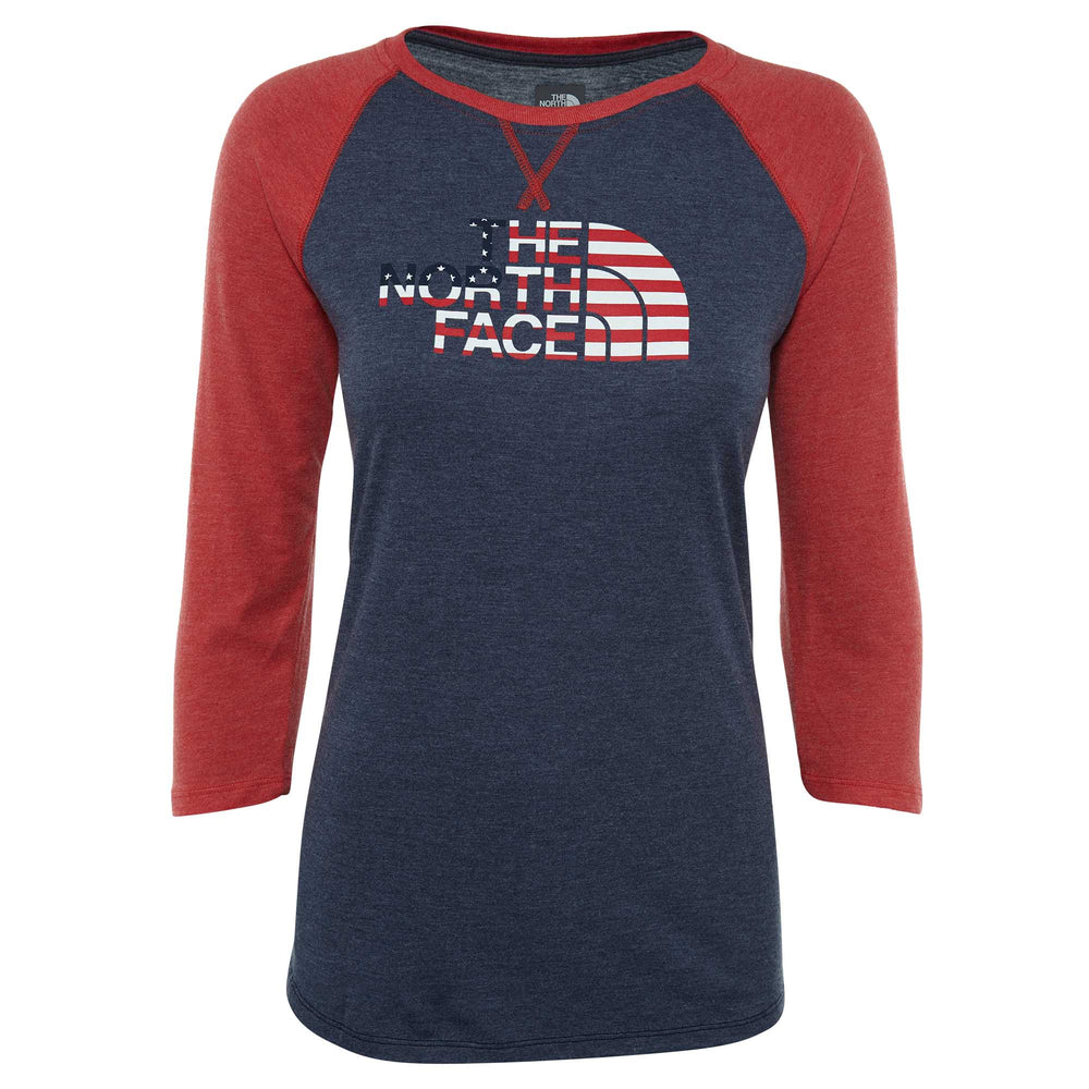 North Face Ic Tri-blend 3/4 Tee Big Kids Style : A3c16