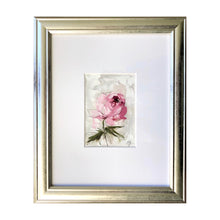 "Load image into Gallery viewer, ""Peony Vignette IX"" 7x5"" Oil/Graphite on Paper"