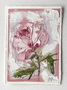 """Pink on Pink II"" 7x5"" Oil/Graphite on Paper"