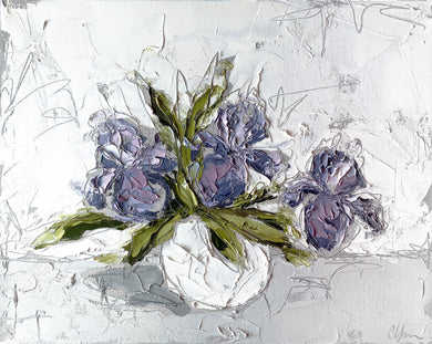 """Irises in White IV"