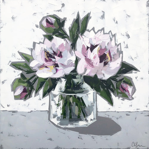 """Peonies in Glass no. 3"" 20x20"