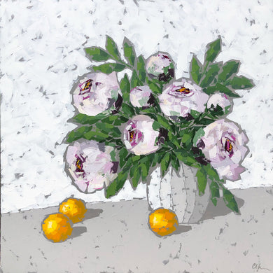 "SOLD - ""Peonies and Oranges"""
