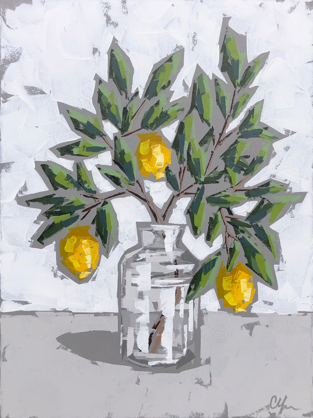"SOLD - ""Lemons in Glass III"""