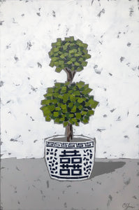 "SOLD - ""Double Happiness Topiary II"""