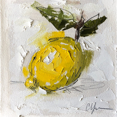 """LITTLE LEMON IX"" 10x10 (5x5) Oil/Graphite on Paper"