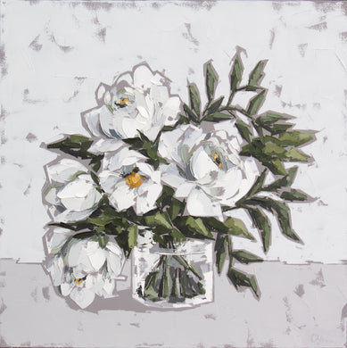 """Peonies in Glass IX"""