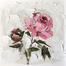 "Load image into Gallery viewer, ""PEONY VIGNETTE XXIX"" 14x14 (8x8) Oil/Graphite on Paper"
