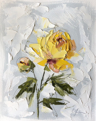"SOLD - ""PEONY VIGNETTE XXXIV"" 16.5x13.5 (10x8) Oil/Graphite on Paper"