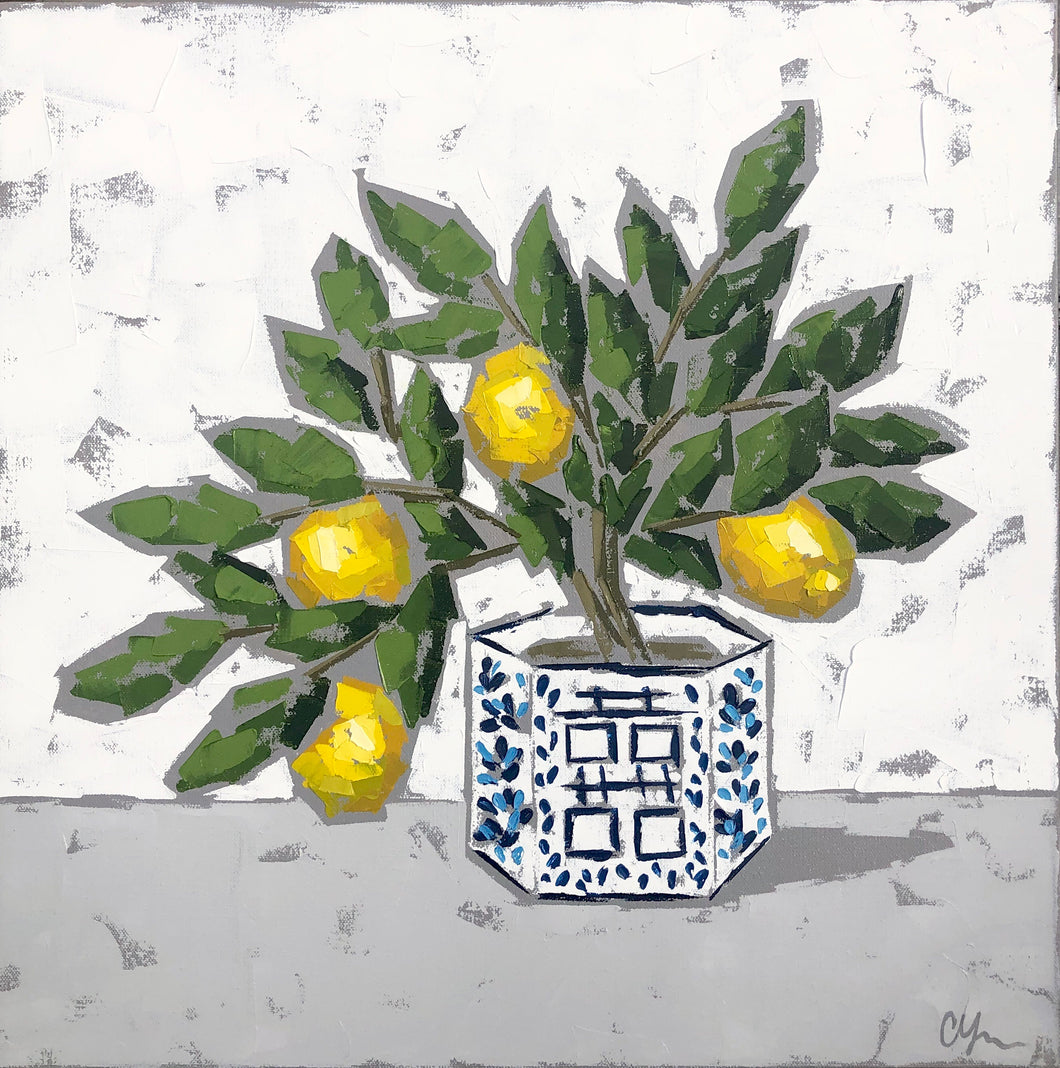 "SOLD - ""Double Happiness Lemons no. 3"""