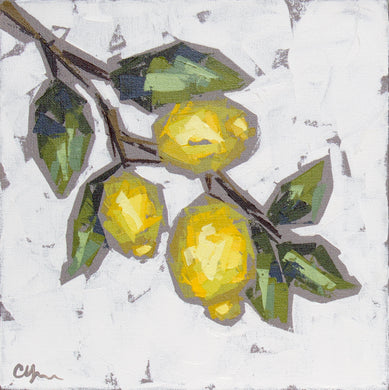 """Lemon Sprig no. 2"" 12x12"