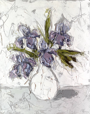 """Irises in White I"