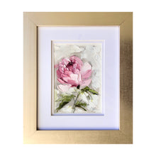 "Load image into Gallery viewer, ""Peony Vignette XI"" 7x5"" Oil/Graphite on Paper"