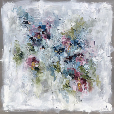 """Abstract Garden III"" 48x48 Oil/Graphite on Canvas"