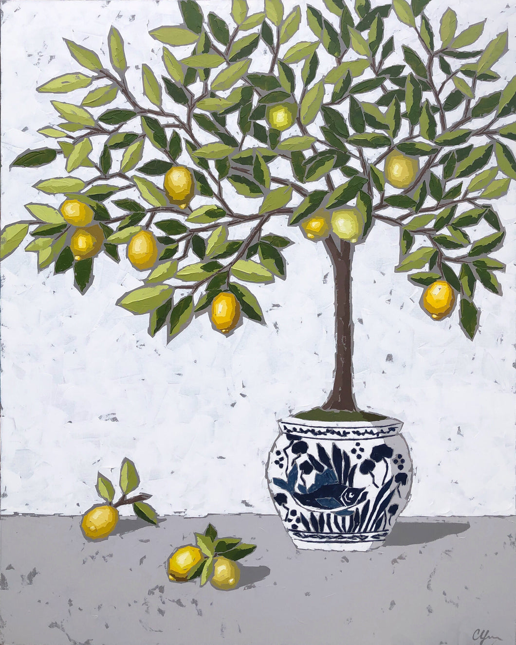 "SOLD - ""Lemon in Chinoiserie no. 2"""